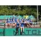 Afbeelding van PABO studenten krijgen tennis clinic van clubtrainer Mario de Blanken op Unicum