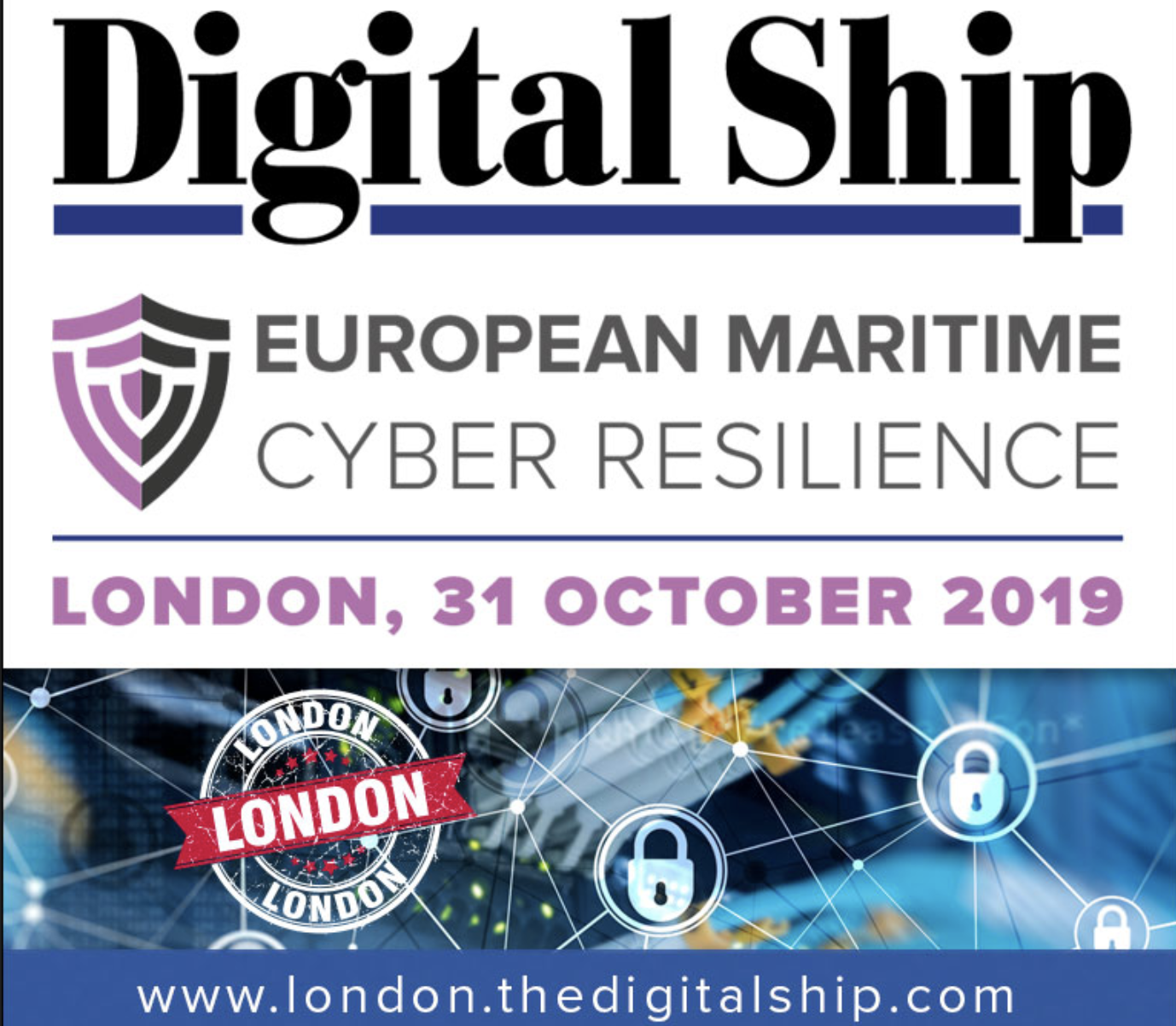 Icon representing European Maritime Cyber Resilience Forum - London - October 31